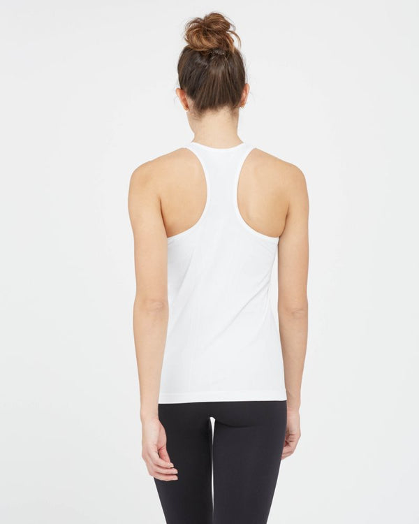 Look at Me Know Seamless Tank, White