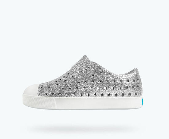 Jefferson Bling Child-  Silver Bling/ Shell White