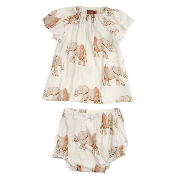 Bamboo Elephant Tutu Dress & Bloomer Set