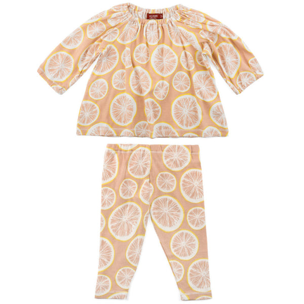 Grapefruit Dress & Legging Set