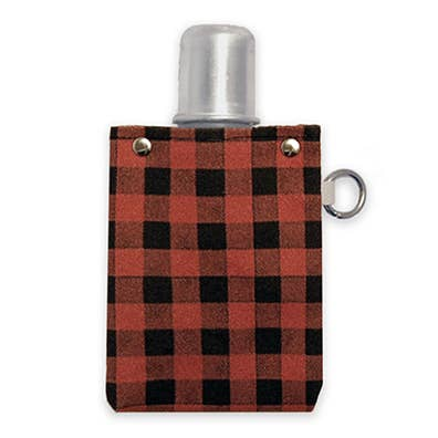 Red Plaid Flask