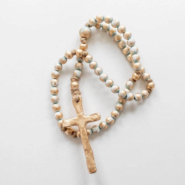 "23"" Rosary, Turquoise"