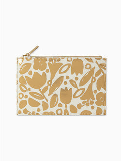 Gold Floral Pencil  Pouch