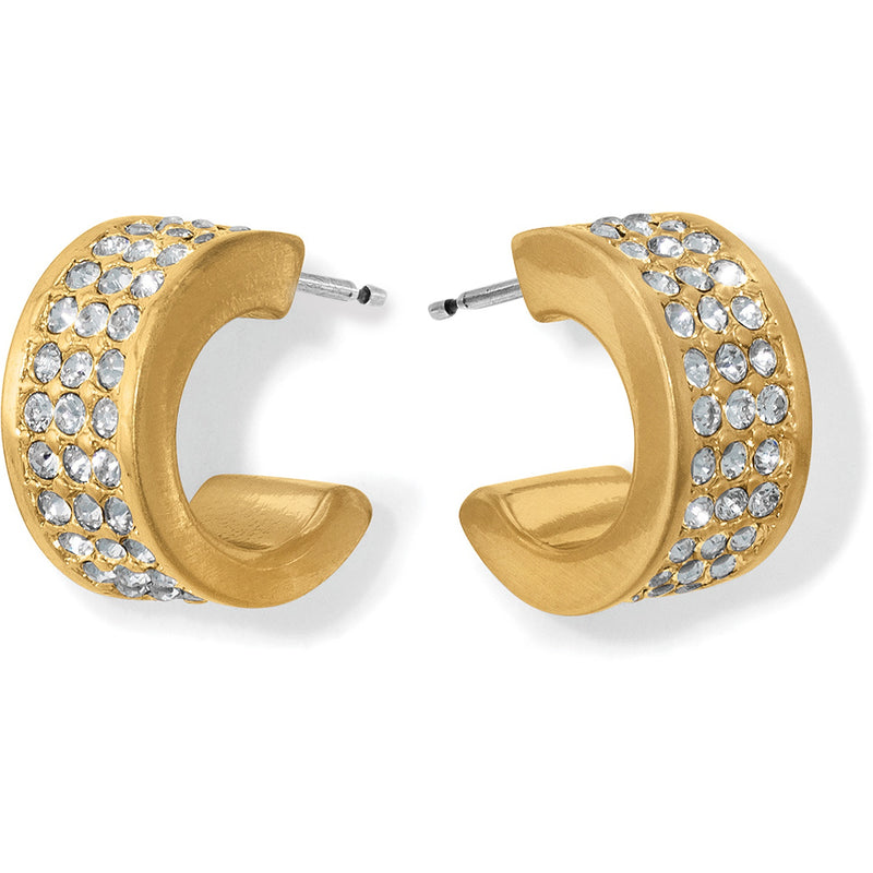Meridian Zenith Huggie Hoop Earrings in Gold