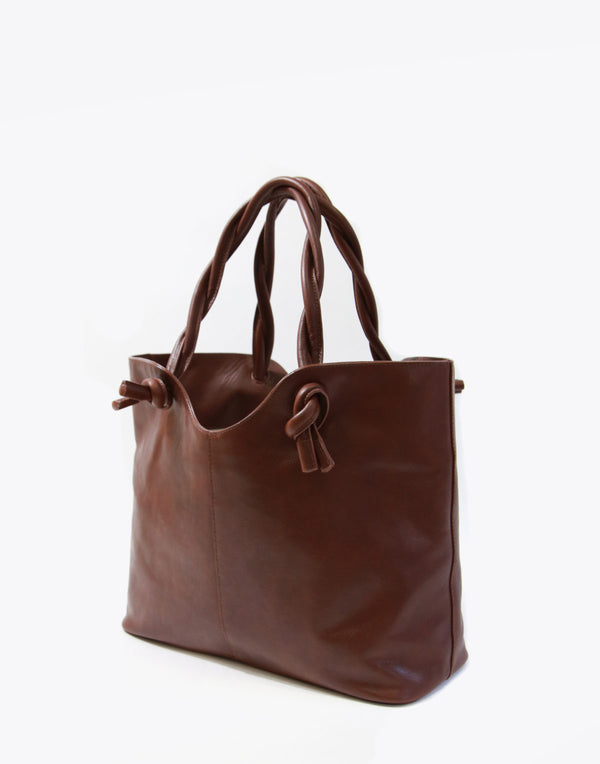 No. 45 The Twist Tote Old School Leather