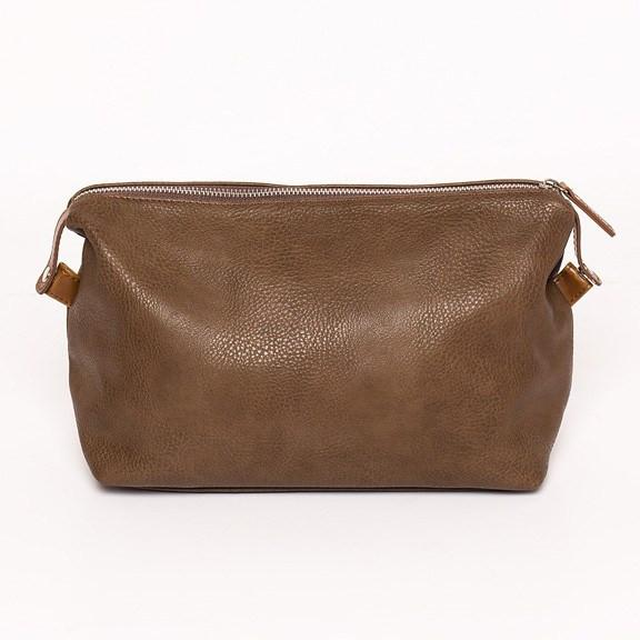 Alpha Toiletry Bag, Chocolate Brown