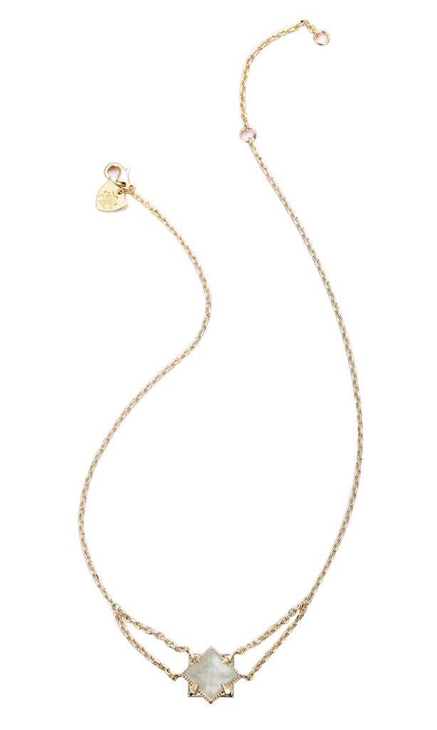 NATALIE WOOD DESIGNS Runaway Romantic Necklace in River Pearl - Gold