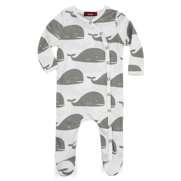 WHALE Footed Romper