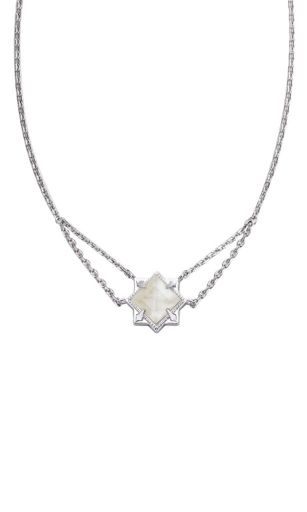NATALIE WOOD DESIGNS Runaway Romantic Necklace in River Pearl - Silver