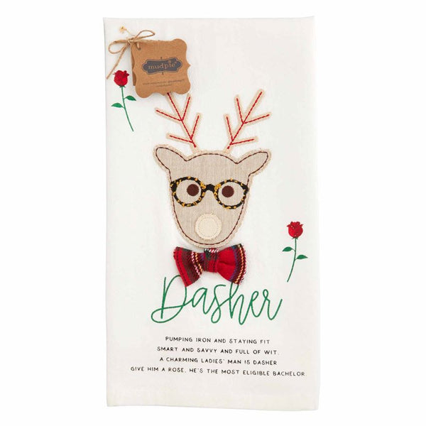 Dasher Reindeer Hand Towel