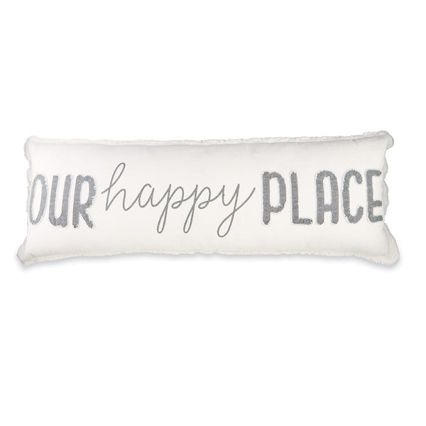 Our Happy Place Long Pillow