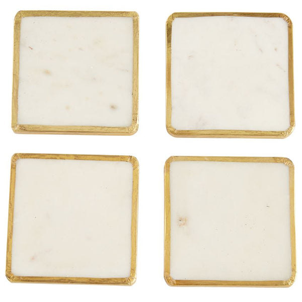 Marble Coaster Set, Gold