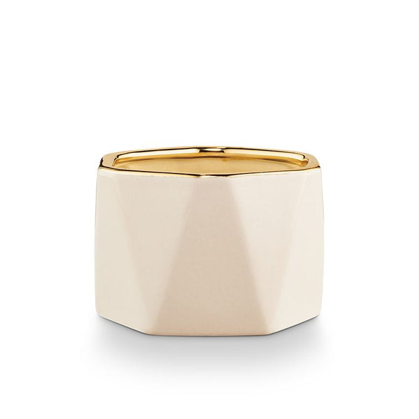 Winter White Electroplated Dylan Candle