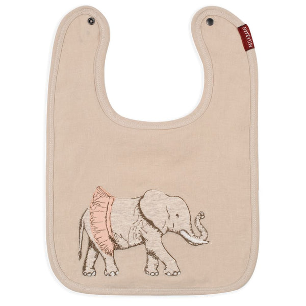 Applique Bib, Elephant