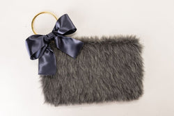 Aspen Bow Clutch in Grey