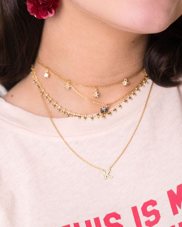 ALLIE PETITE LAYERING INITIAL NECKLACE