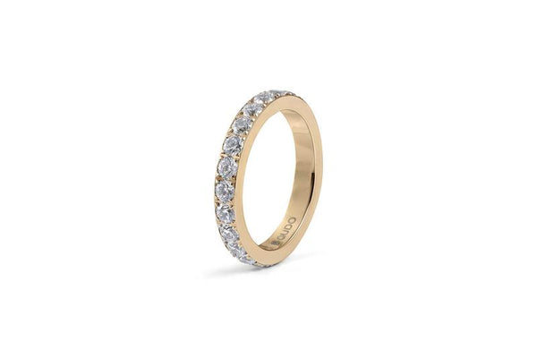 Eternity Big Spacer Ring, Gold