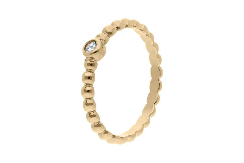 Matino Deluxe Spacer Ring, Gold