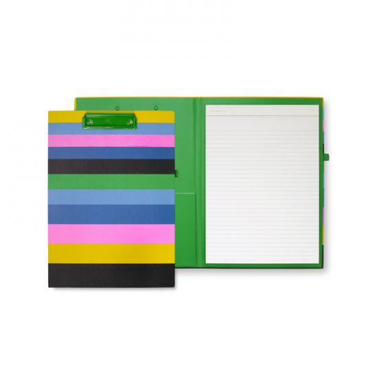 Clipboard Folio, Enchanted Stripe