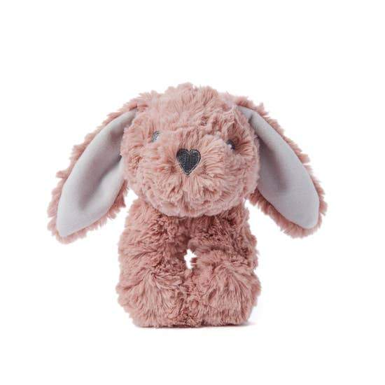 Plush Rattle, Pink Bunny