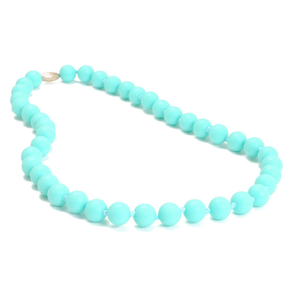 Jane Teething Necklace, Turquoise