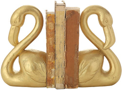 Gold Resin Flamingo Bookends
