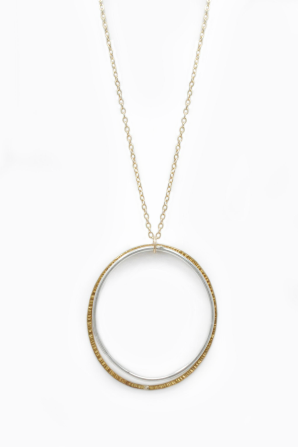 Duo Necklace, Two Tone