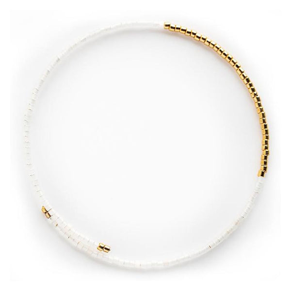 Norah Bangle, White Opal Gold