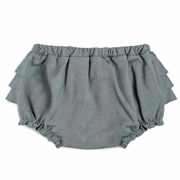 ORGANIC DENIM RUFFLE BLOOMER