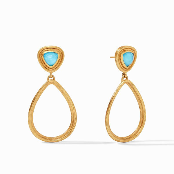 Barcelona Statement Earring - Pacific Blue