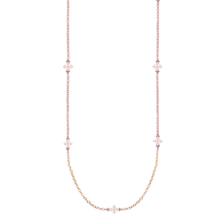 Believer Long Cross Necklace in Rose Gold