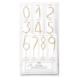 Big Golden Sparkler Number Wand