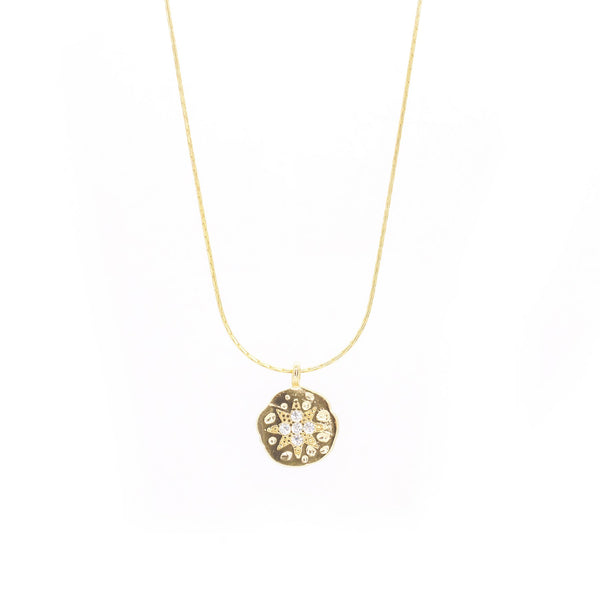 Burst Pendant Necklace, Gold