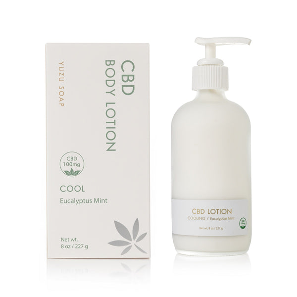CBD Body Lotion, Eucalyptus Mint (100mg)