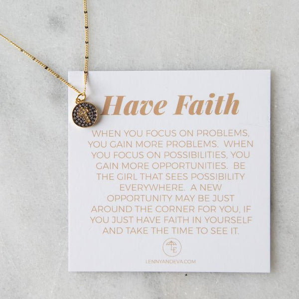 Have Faith Necklace, Cross
