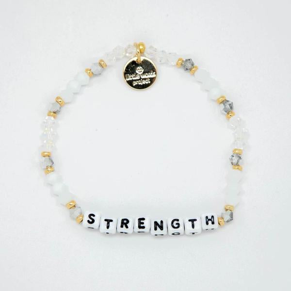 Strength White Beaded Bracelet, Howlite