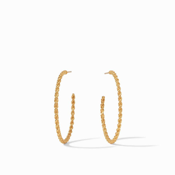 Cascade Large Hoop - Gold