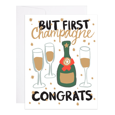 Champagne Congrats Greeting Card