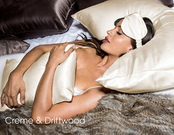 Queen Charmeuse Pillow Slip, Creme