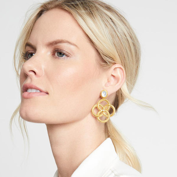 Chloe Earrings - Iridescent Clear Crystal