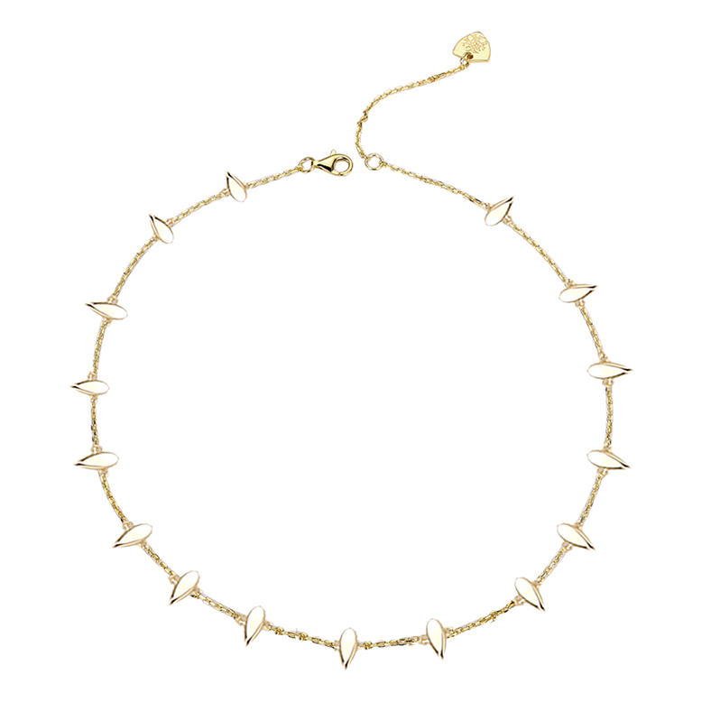 Choose Happy Mini Necklace - Gold