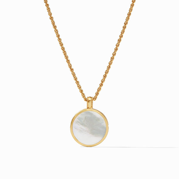 Coin Statement Pendant, Mother of Pearl