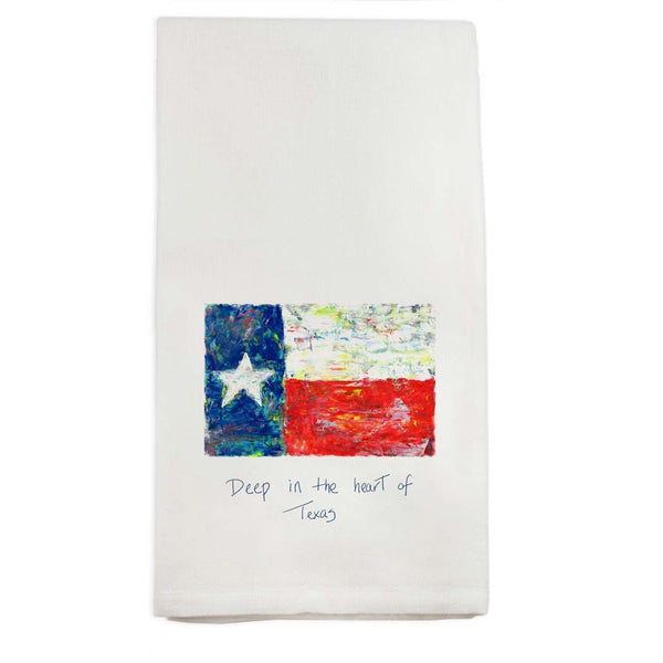 Hand Towel, Deep in The Heart of Texas - Flag