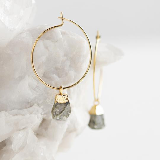 Bella Earrings, Labradorite