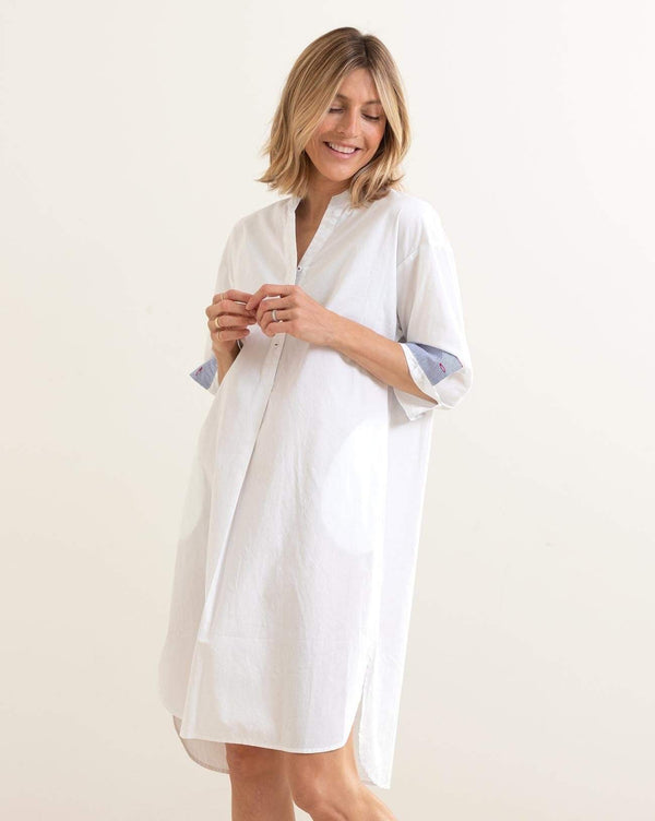 Essential Shirt Dress, White