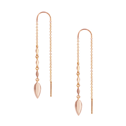 Grace Ear Threaders in Rose Gold