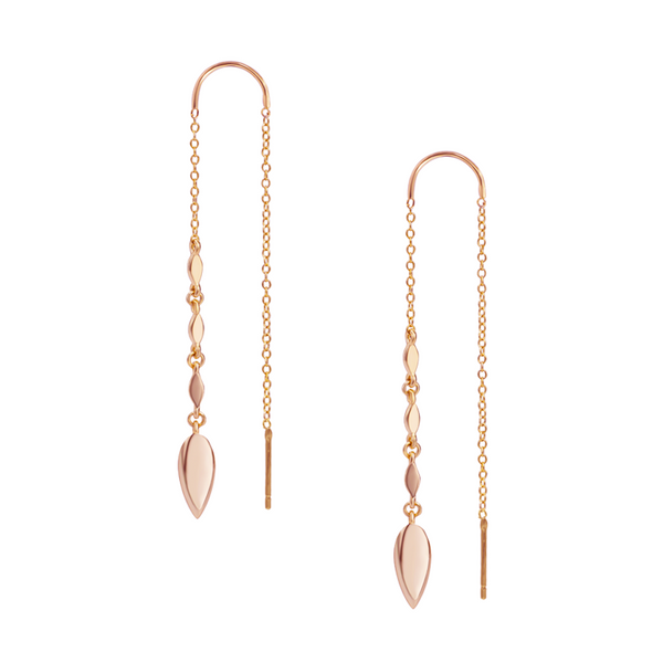 Grace Ear Threaders - Rose Gold