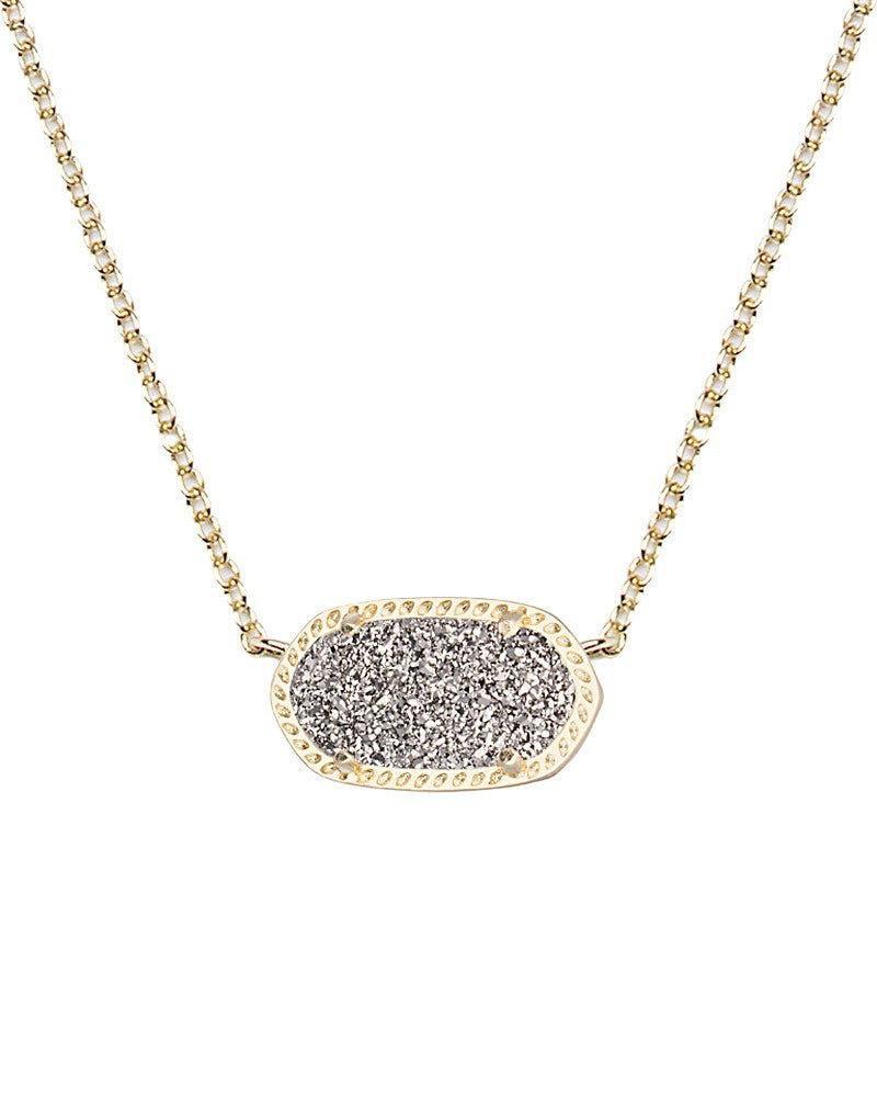 KENDRA SCOTT Elisa Necklace in Platinum Drusy - Sabi Boutique - 1