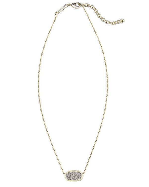 KENDRA SCOTT Elisa Necklace in Platinum Drusy - Sabi Boutique - 3