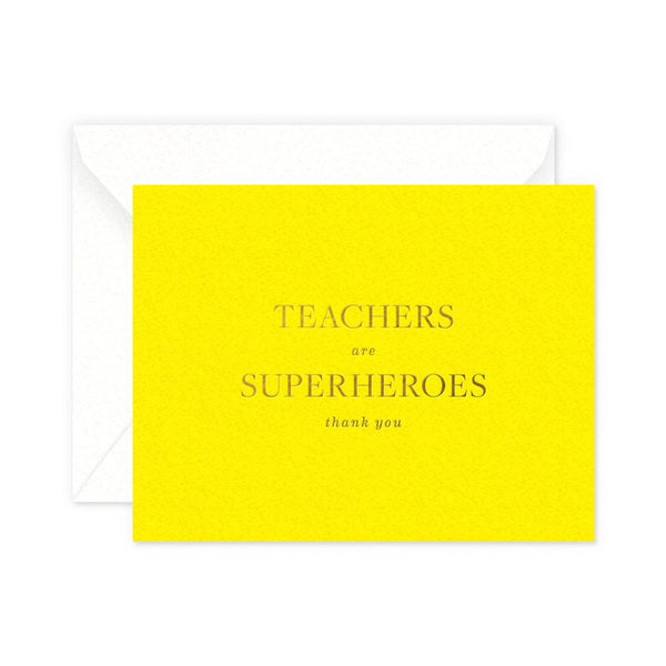 Teachers are Superheroes Greeting Card